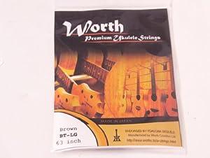 Worth BT-LG Brown Ukulele Strings - Tenor Low G - Double Length For 2 Ukes