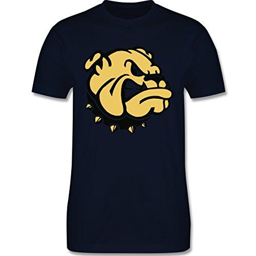 Hunde - Bulldogge - Herren Premium T-Shirt Navy Blau