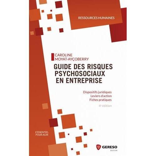 Guide des risques psychosociaux en entreprise: Dispositifs juridiques - Leviers d'action - Fiches pratiques