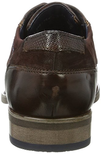 Bugatti 312164041134, Derby Uomo Marrone (Dark Brown / Dark Brown)
