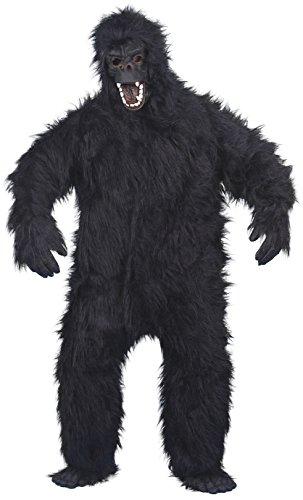 Smiffys, Herren Gorilla Kostüm, Bodysuit, Maske, Hände und Füße, One Size, (Maske Kostüme Gorilla)