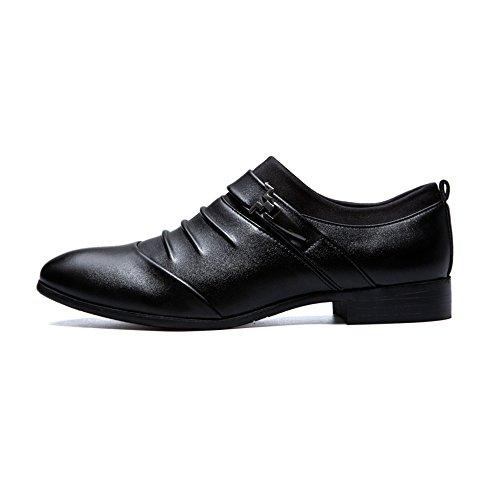 Paris Hill  Euph094, Chaussures à lacets homme Noir