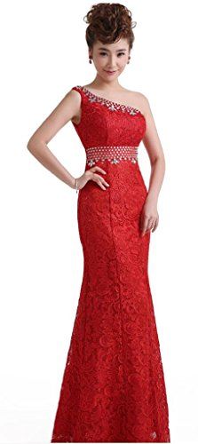 Drasawee - Robe - Taille empire - Femme Rouge - Rouge