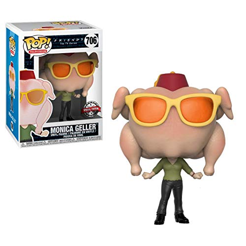 Funko- Figura Pop Friends Monica with Turkey Exclusive, Multicolor, Talla Única (706) 2