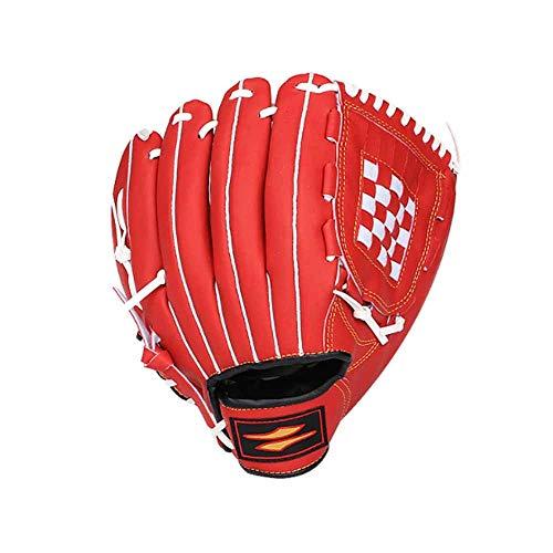 YYSS Studenten-Leibeserziehungs-Softball-Wurfhandschuhe, Baseball-Übungshandschuh (Color : Red, Size : 11inch) (Zoll Softball-handschuh-11)