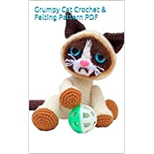Grumpy Cat Crochet & Felting Pattern PDF (English Edition)