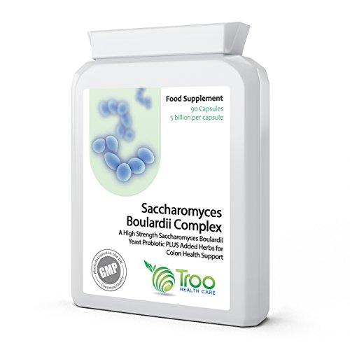 Saccharomyces Boulardii 90 Capsules – 5 Billion cfu Probiotic Supplement with added ...