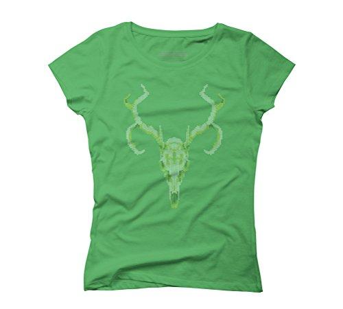 Reindeer Skull Women's Graphic T-Shirt - Design By Humans Green