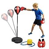 KidsHobby Sac De Frappe Enfants Punching Ball Réglable En Hauteur 80-110cm Avec Gants De boxe Et Pompe Pour Entraînement De Boxe...