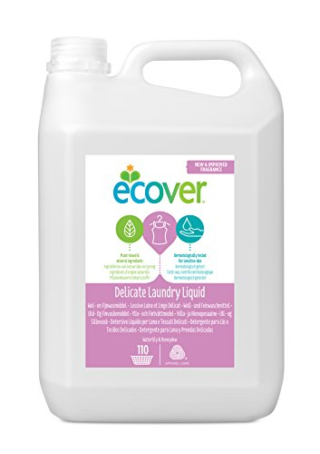 Ecover Ökologisches Woll- und Feinwaschmittel, Wasserlilie & Honigmelone,  5 l Kanister, flüssig -