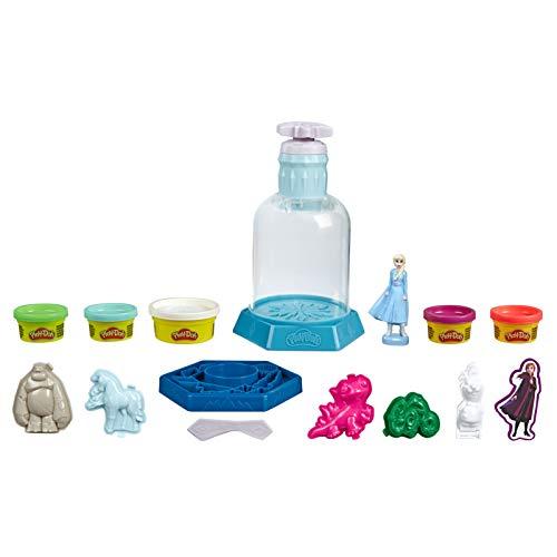 Play-Doh Mysteries Disney Die Eiskönigin 2 Elsas Schneekugel Spielzeug mit 5 Farben