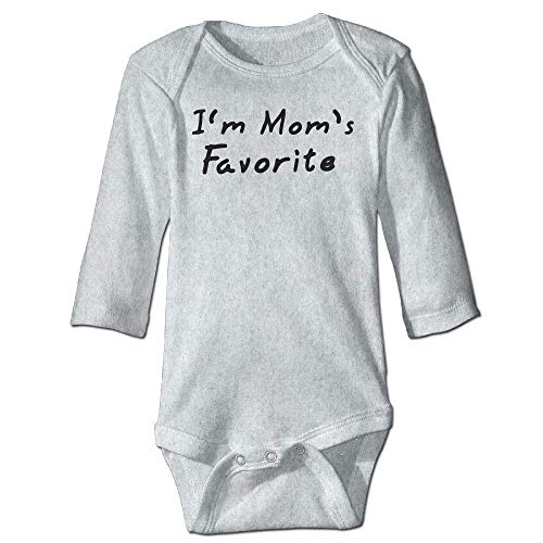Unisex Newborn Bodysuits I'm Mom's Favorite Girls Babysuit Long Sleeve Jumpsuit Sunsuit Outfit Ash Favorite Short-sleeve Bodysuit