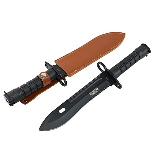 Defender-Xtreme M7 Bajonett-Jagdmesser mit schwarzer Klinge/Mantel