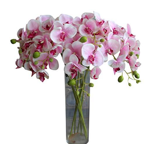 Dooxii Phalaenopsis Fiori Artificiali Finti Piante Artificiali Stile Pastorale Decorazione Ornamento per Casa e Matrimoni