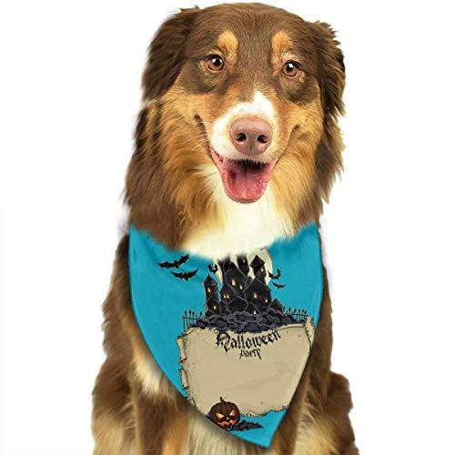 Wfispiy Hund Bandana Haustier Schal Halloween Classic Pet Bandana Haustier Halsbänder für Hund Katze eine Größe