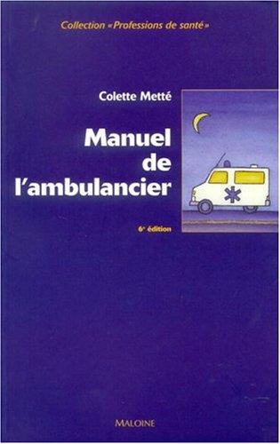 Manuel de l'ambulancier