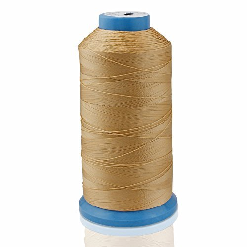 Aussel Bonded Nylon Sewing Thread 1500 Yard Size T70 #69 for the Upholstery, Outdoor Market, Drapery, Beading, Luggage, Purses (Yellow) by Aussel