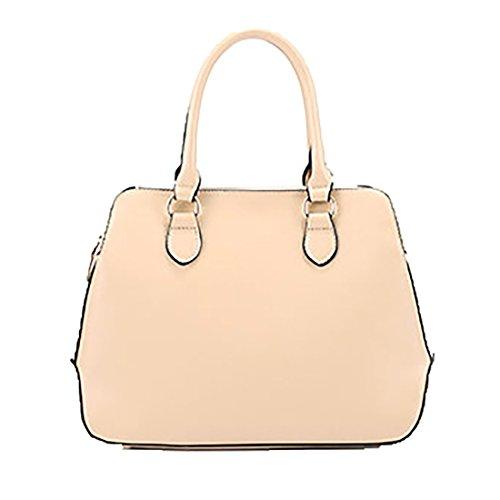 YYW Leather Handbags, Borsa a mano donna Khaki
