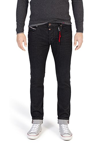 Timezone Herren Scott Super Stretch Slim Jeans, Schwarz (Black Vintage Wash 9019), W30/L32 -