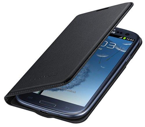 Samsung Hülle Schutzhülle Flip Wallet Case Cover für Samsung Galaxy S3 - Schwarz Wallet Case Cover
