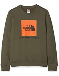 The North Face Y Crew Jersey Box Drew Peak, Unisex niños, New Taupe Green