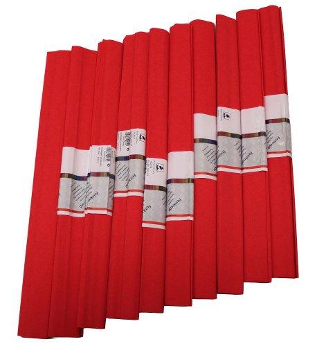 Staufen 617139 - Krepppapier 10 Rollen 50 x 250 cm feuerrot