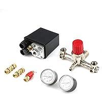 Einstellbarer Druckschalter Druckregelung mit 2 Druckmanometern Ventilsteuerung