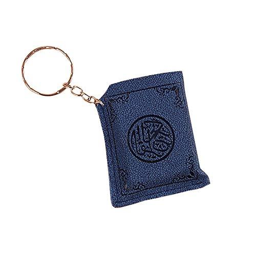 Verlike Mini Islamischer Muslim Arche Koran Buch Schlüsselanhänger Ring Auto Tasche Geldbörse Anhänger Auto Schlüsselhalter, blau