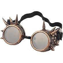 Sannysis Rivet Steampunk Winddicht Spiegel Weinlese-gotische Objektive Goggles Glasses