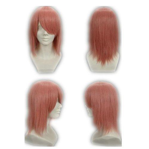 COSPLAZA Cosplay Wig Kostueme Peruecke Shippuden Sakura Haruno Mittlerer Laenge Pink Synthetische Haare