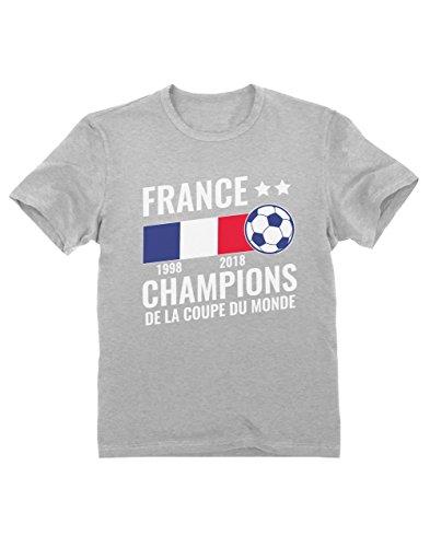 France Vainqueur Coupe du Monde de Football 2018 T-Shirt Garçon 7/8 Ans...