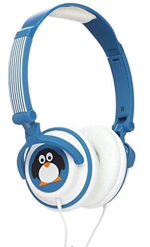 My Doodles DDPENHP My Doodles Leicht-Kopfhörer für Kinder im niedlichen Pinguin-Design mit 85Db Volume Limiting Lautstärkebegrenzung - Blau mit Pinguin - (Pinguin Leichte)
