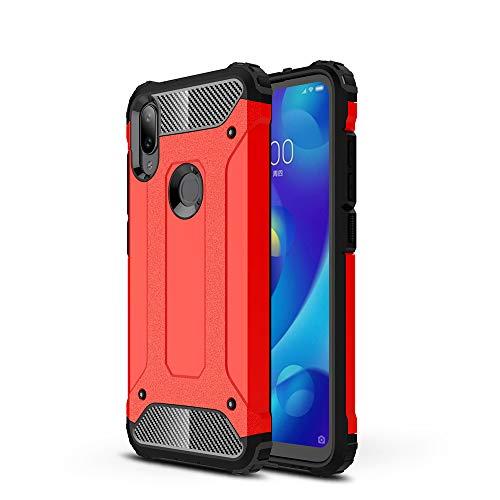 KISCO per Cover Xiaomi Mi Play,[Anti-graffio][Antiurto] Slim TPU + PC Guscio Duro Cover Protezione per Xiaomi Mi Play-Rosso