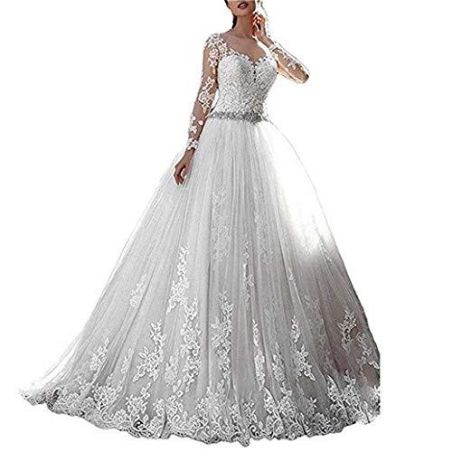 Xuyudita abiti da sposa da sposa in pizzo da donna. abiti da sposa bianco-42