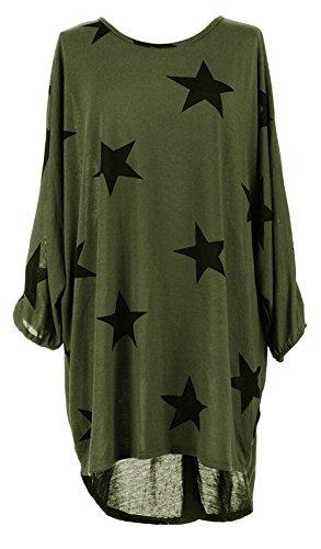 Suimiki Damen Oversize Pullover lang Sweatshirt locker Oberteile Asymmetrisch -AGXL