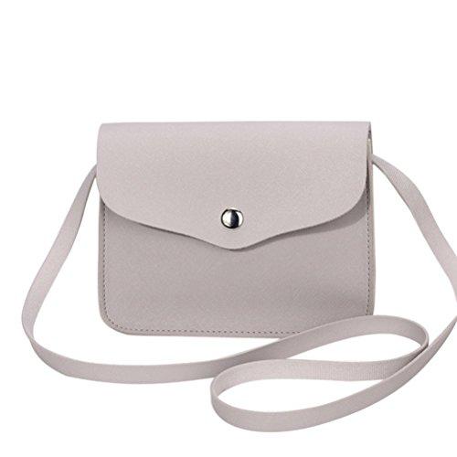Kanpola Art und Weisefrauen PU-lederne Schulter Crossbody Handtasche Kuriertaschen Grau