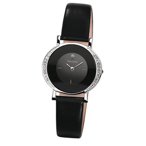 Pierre Lannier 013K633 - Reloj analógico para mujer de cuero negro