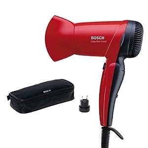 Bosch PHD1150 Asciugacapelli da Viaggio, Colore Rosso, 1200 W