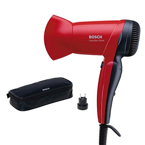 Bosch PHD1150 Asciugacapelli da Viaggio, Colore Rosso,...