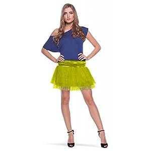 Folat 63685-Verdes Tutu Neon Disco-Mujeres