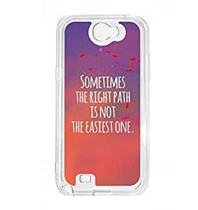 a AND b Designer Printed Mobile Back Cover / Back Case For Samsung Galaxy Note 2 (SG_N2_3200)
