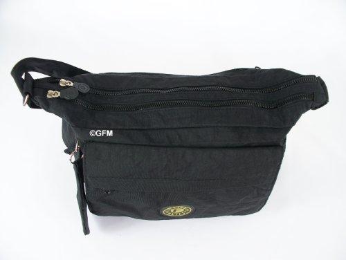 GFM Fashion, Borsa a tracolla donna Multicolore multicolore Small Style 1 - .Black (KL)