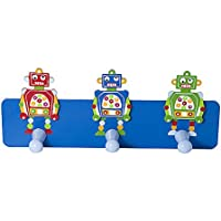 Ganci appendiabiti a parete porta per bambini con robot blu