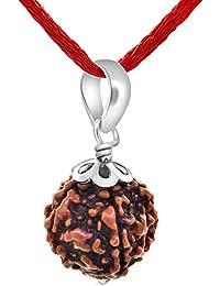 Rudraksha Certified 5 Mukhi NEPALI RUDRAKSHA SILVER PENDANT 100% Original & Certified Five Faced RUDRAKSHA PENDANT BY Arihant Gems and Jewels