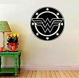 Kssim Wonder Woman Logo Sticker Femme Symbole De Mur Adolescente - Filles Décoratif Mural Home Art Décor Intérieur Comics Fans Stickers 57 * 57Cm