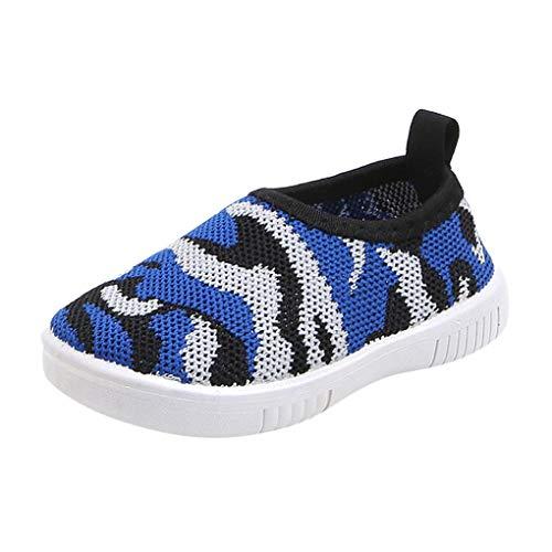 Mesh Schuhe für Kinder Jungen Mädchen/Dorical Unisex Graffiti Sandalen Lauflernschuhe Outdoorsandalen Sommer Strand Wasserschuhe Geschlossene Atmungsaktiv Krabbelschuhe Badeschuhe(Blau,21 EU)