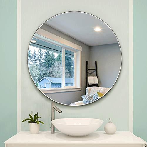 Einfacher Badezimmer-Spiegel an der Wand befestigter runder Badezimmer-Spiegel ohne Kupfer Bleifreier silberner Spiegel, der dekorativen Spiegel hängt (größe : 50cm)