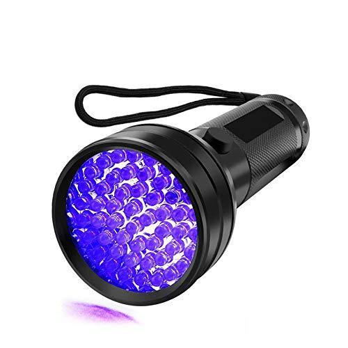 UV Linterna Negra Luz UV 51 LED 395 nm Ultravioleta Luz Negra para Detector de Orina para Orina Perro, Mascotas Manchas y Cama Bug, Flash Light