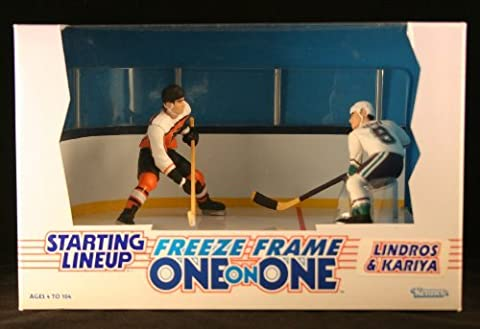 ERIC LINDROS / PHILADELPHIA FLYERS & PAUL KARIYA / MIGHTY DUCKS OF ANAHEIM 1997 NHL * Freeze Frame One-On-One * Starting Lineup Action Figure Deluxe Box Set by Starting Line (Paul Kariya Nhl)
