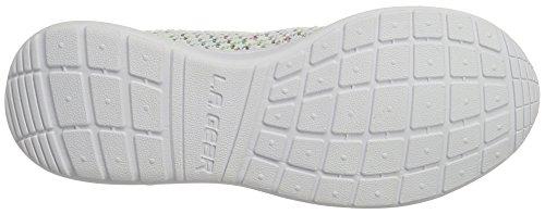 L.A. Gear Damen Sunrise Sneaker Weiß (white/multi/stars)